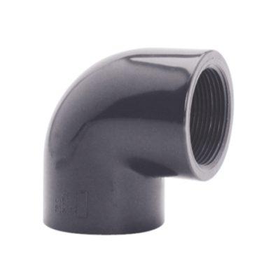 PVC vinkel 90° Ø 50 mm, limmuff