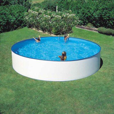 Poolset Acapulco, rund Ø450, H90 cm med säkerhetsstege