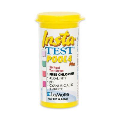 Teststickor Insta-TEST 4 gul, pH/klor/alka/cya, 50 st