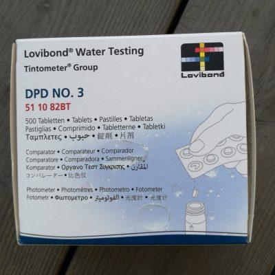 Testtabletter DPD3 för fotometer, 500 st