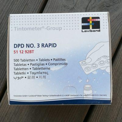 Testtabletter DPD 3 Rapid, 500st